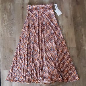 NWT Lularoe fall printed maxi skirt